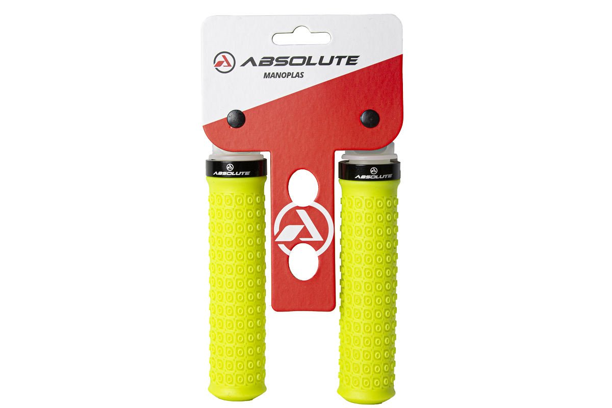 Manopla Absolute HL-G247 Borracha 130mm - Amarelo